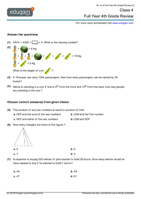 icse class  maths worksheets awesome worksheet