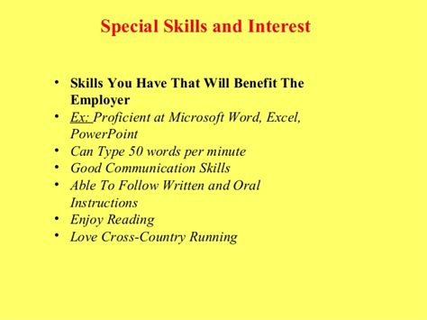 Special Skills And Interest In Resume by Resume And Cover Letter Tips That Are Sure To Get You Noticed