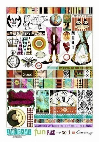 Journal Collage Fun Sheet No151 Instant