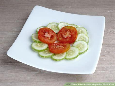 ways  decorate  vegetable salad plate wikihow