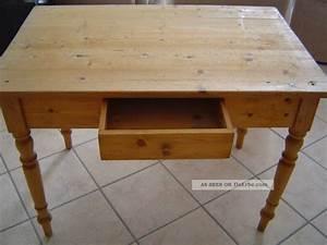 Kleiner Schreibtisch Mit Schublade : antiker tisch esstisch k chentisch weichholztisch mit schublade schreibtisch ~ Indierocktalk.com Haus und Dekorationen