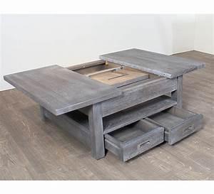 Table Basse Chene Gris : table basse carree chene massif 3822 ~ Teatrodelosmanantiales.com Idées de Décoration