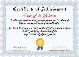 Attendance Template For Teachers Certificate Of Achievement Free Certificate Templates