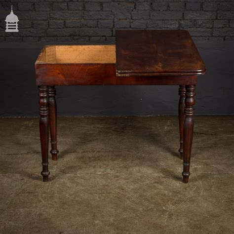 fold out table top 19th c cuban mahogany swivel top fold out table with