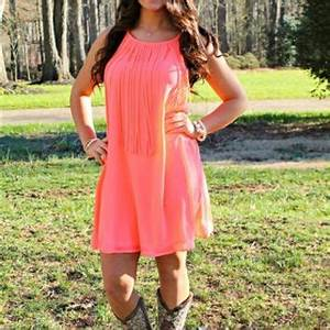 e Way Ticket Neon Coral Dress from Southern Fried Chics