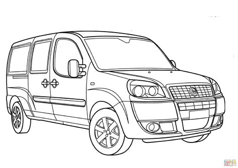 Fiat Panda Kleurplaat by Fiat Doblo Coloring Page Free Printable Coloring Pages