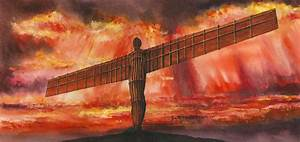 Angel of the North | ukwatercolours