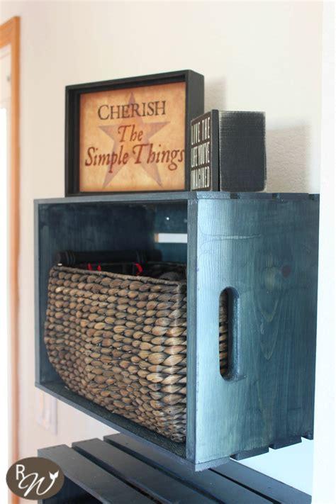 diy mudroom storage crates   decorate  crate