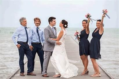 Windy Groom Bride Kissing Very Key West