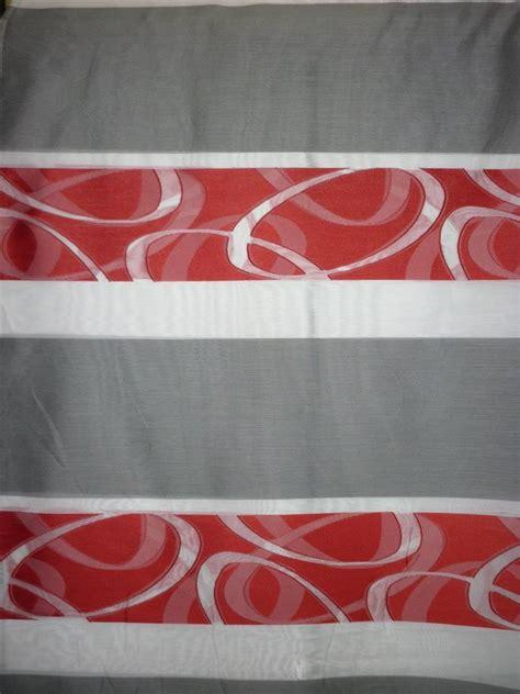 Vorhänge Rot Weiß by Deko Stoff Vorhang Querstreifen Wei 223 Rot Grau Teiltransp