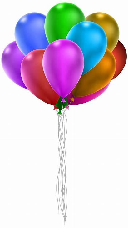 Bunch Balloons Balloon Clip Clipart Transparent Strings