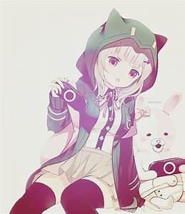 Cute anime girl playing video games (nerd)- so kawaii ...