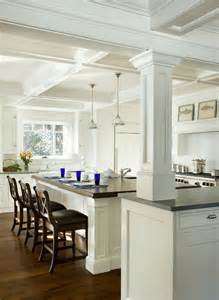kitchen island with columns columns inside and outside the house