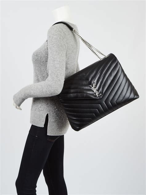 yves saint laurent black quilted calfskin leather large loulou bag yoogis closet