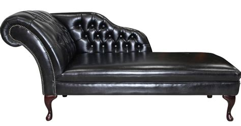 Chesterfield Chaise Longue by Chesterfield Leather Chaise Lounge Day Bed Designersofas4u