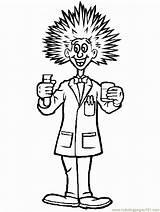 Cientista Scienziato Arzt Malvorlage Kleurplaat Wissenschaftler Forscher Pazzo Coloringpages101 Kleurplaten Maluco Wetenschapper Ausmalbild Doido Blogi Margiti Klassi Testes sketch template