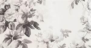 black/white/gray Smoky Rose Wallpaper