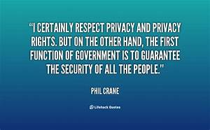 Quotes About Pr... Respect Privacy Quotes