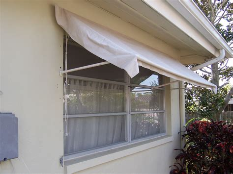 retractable window awning   pvc frame drop cloth fabric  steps instructables