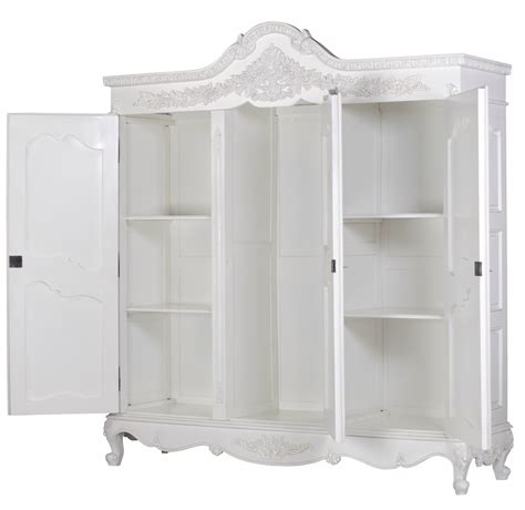 Large White Wardrobe by White Carved Large Armoire Wardrobe