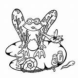 Snail Drawing Tadpole Frog Cartoon Colouring Animal Fly Pen Zit Serge Tracy Philippe Clipart Views sketch template