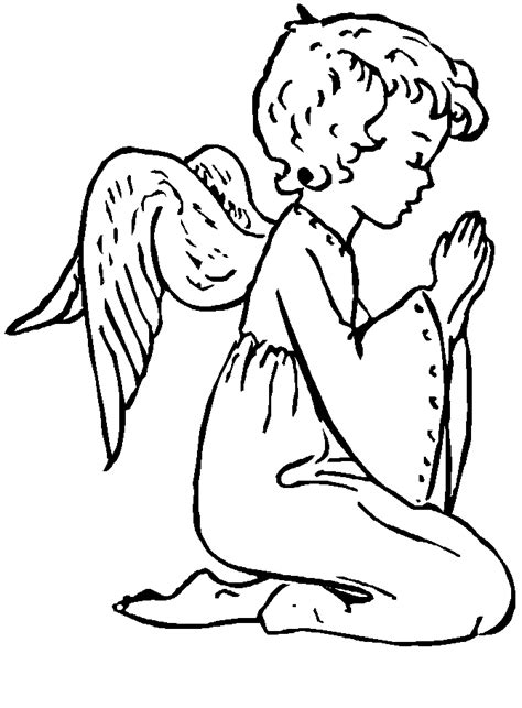 printable angels coloring home