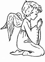 Angel Angels Coloring Christmas Pages Printable Praying Ange Clipart Dessin Colouring God Clip Coloriage Imprimer Para Colorear Paginas Sheets Navidad sketch template