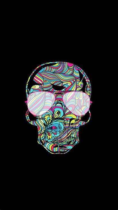Wallpapers Phone Neon Skull Backgrounds Iphone Skulls