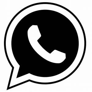 Whatsapp icon logo vector image black #2272 - Free ...
