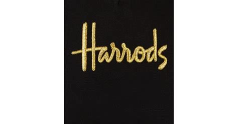 harrods embroidered logo cap  black  men lyst