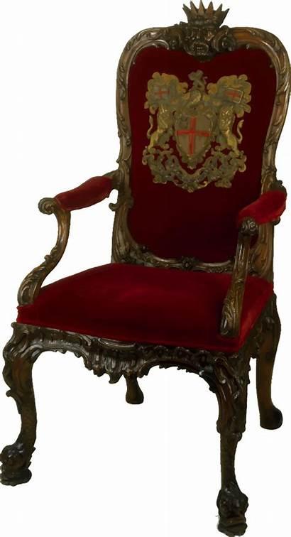 Chair Ornate Walnut Clipart