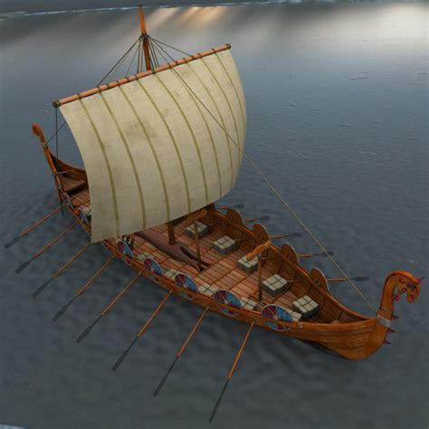 Viking Boats To Make by 3d Model And Viewer For Boat Plans Plan Make Easy