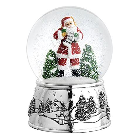 large snow globes christmas reed barton classic large globe ornament home garden decor snow globes