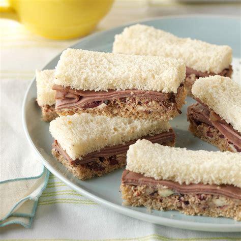 finger sandwiches roast beef finger sandwiches recipe taste of home
