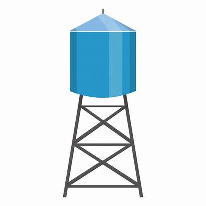Water Tower Illustration Container Tank Transparent Elevated