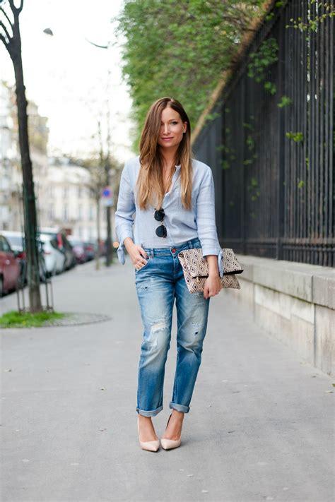 total adresse si鑒e social total look denim mode chemise bleu zara boyfriend jean la minute fashion by melody