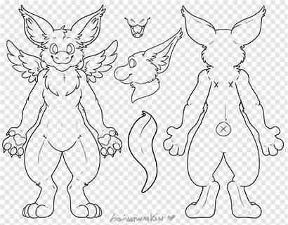 Furry Dragon Dutch Angel Base Drawing Ref