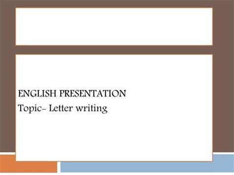 letter writing englishppt authorstream