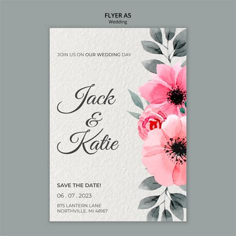 wedding concept flyer template  psd file