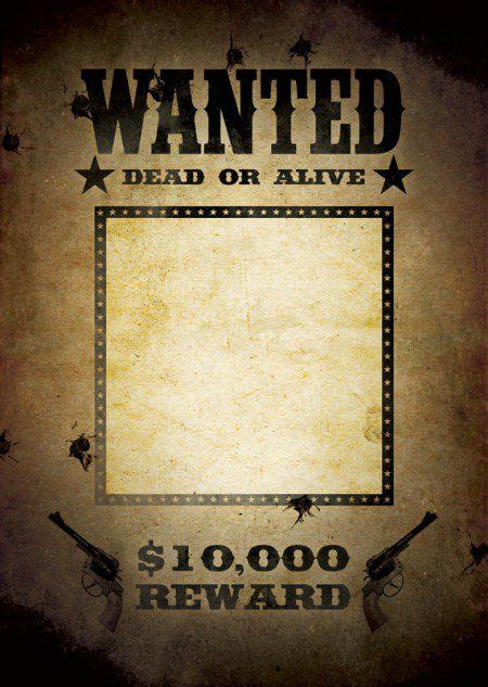 fbi   west wanted poster templates