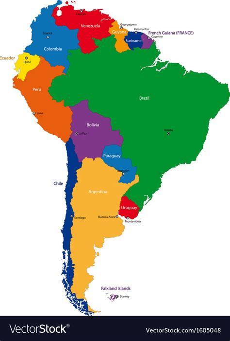 south america map royalty  vector image vectorstock