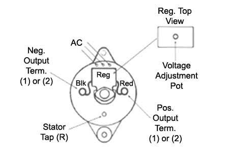 Dodge Min Alternator Regulator Wiring Diagram by 3 Wire Regulator Wiring Wiring Diagrams