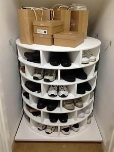 DIY Lazy Susan Shoe Storage The Owner Builder Network