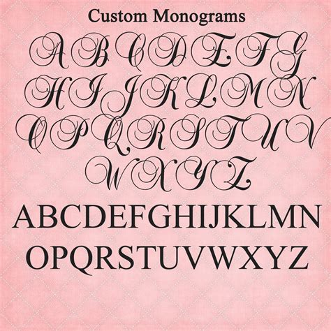 funky letter boutique beautiful custom monograms