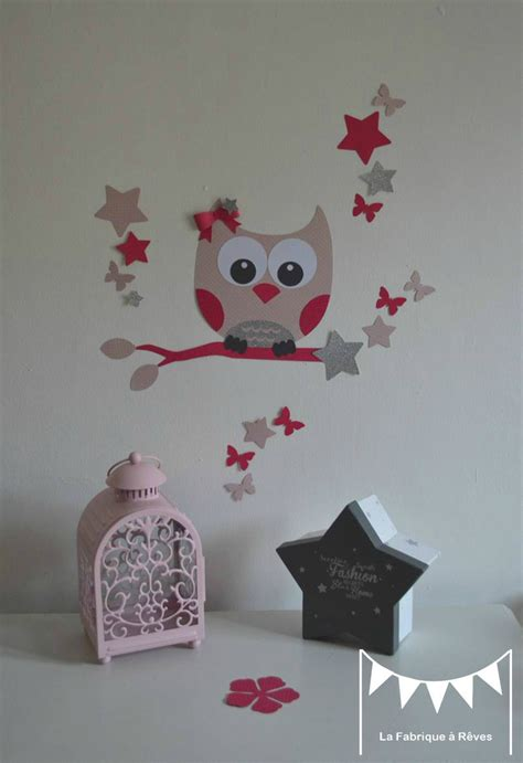 stickers chambre fille chambre bebe fille hibou raliss com
