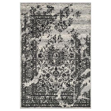 black area rugs safavieh adr101a adirondack silver and black area rug