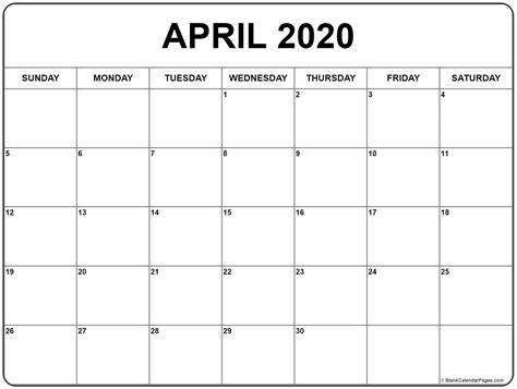 april calendar templates printable calendars