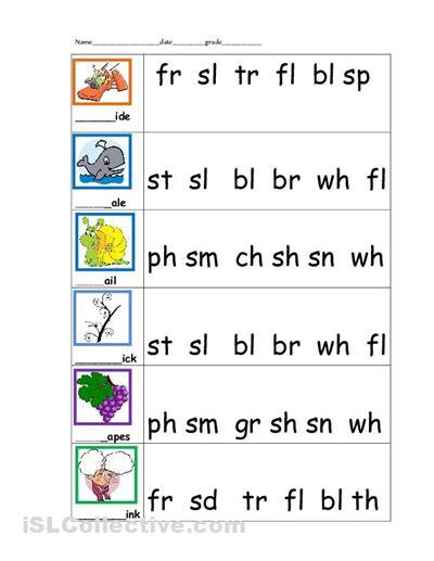 blending sounds worksheet blending sounds worksheets for kindergarten developing