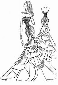 prom dress sketch | - Draw Something - | Pinterest ...