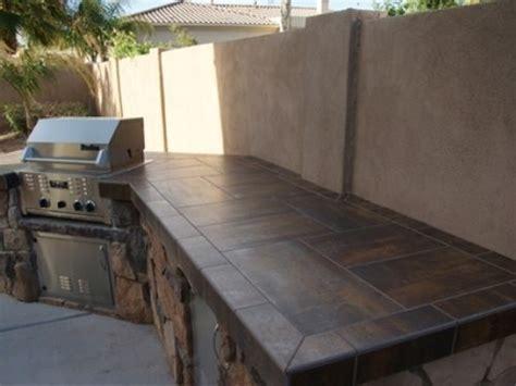 outdoor kitchen tile tiled countertops home best tile 1309